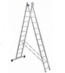 Лестницы двухсекционные алюминиевые АЛЮМЕТ серии H2