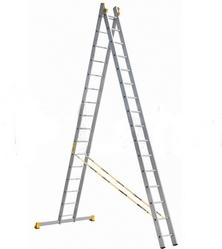 Лестницы двухсекционные профессиональные алюминиевые АЛЮМЕТ серии P2