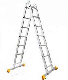 Лестница двухсекционная шарнирная профессиональная АЛЮМЕТ серии Т2