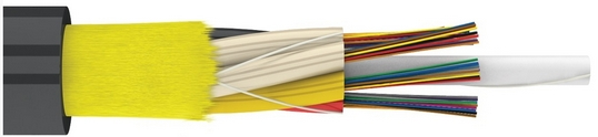 Легкий подвесной самонесущий магистральный оптический кабель (ДОТа)