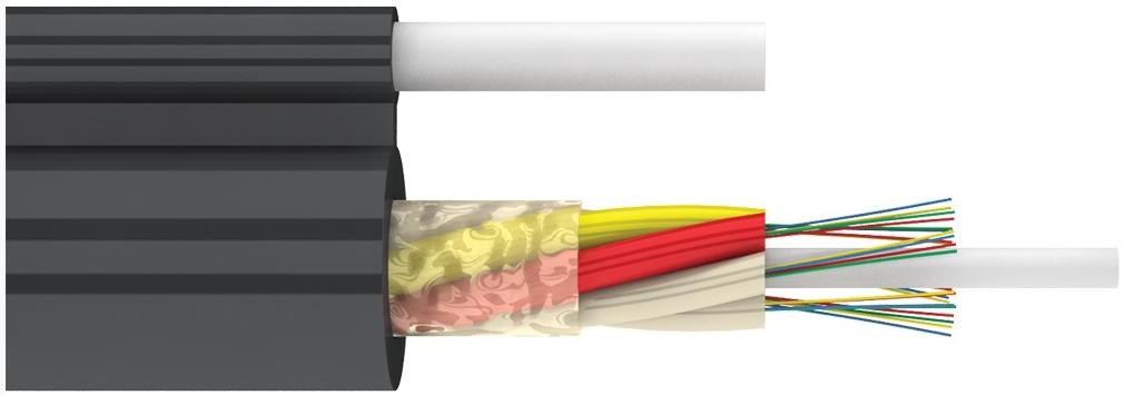 Диэлектрический подвесной магистральный оптический кабель с выносным силовым элементом (ДПОд)