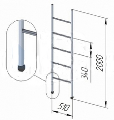 Лестница приставная бытовая ЛПБ