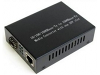 Медиаконвертер под SFP-модуль 10/100/1000Base-TX в 1000Base-SX/LX, SM, внеш. БП (без SFP модуля)