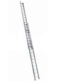 Лестницы профессиональные двухсекционные с канатной тягой АЛЮМЕТ серии SR2