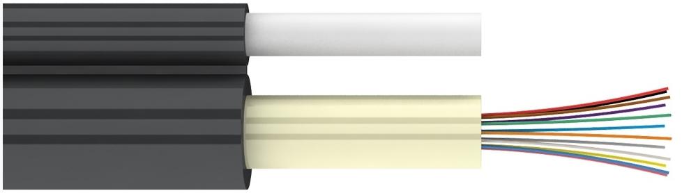 Диэлектрический подвесной магистральный оптический кабель с выносным силовым элементом (ТПОд, ТПОд2)